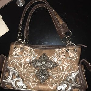 Faux Leather Bling Purse
